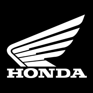 vintage motorcycle number honda decal