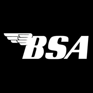 vintage motorcycle numbers BSA iron-on decal