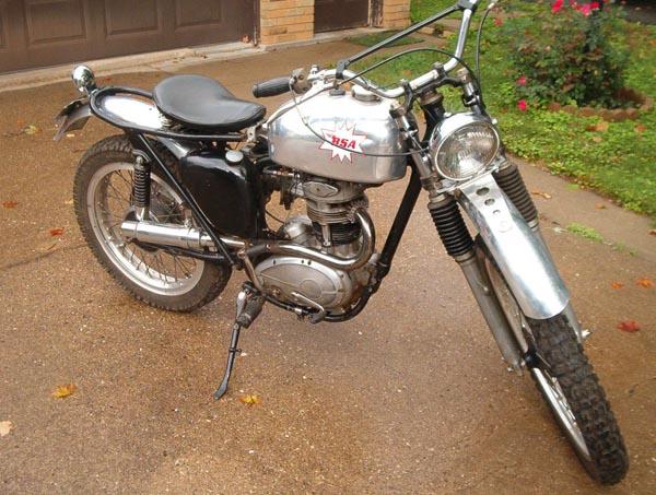 Vintage Motorcycle 1961 BSA Scrambler